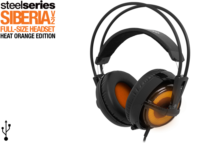 Девайсы: SteelSeries SIberia V2 Heat Orange
